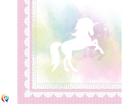 Believe in Unicorns Party Napkins - 33cm 2-Ply Napkins