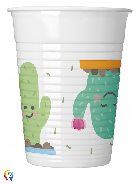 Cactus Party Plastic Cups - 200ml