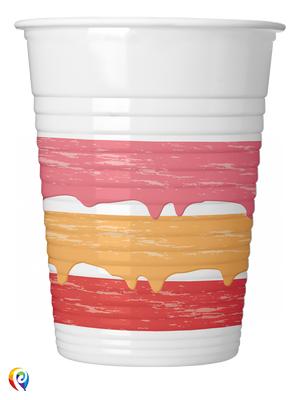 Birthday Cake Party Plastic Cups - 200ml