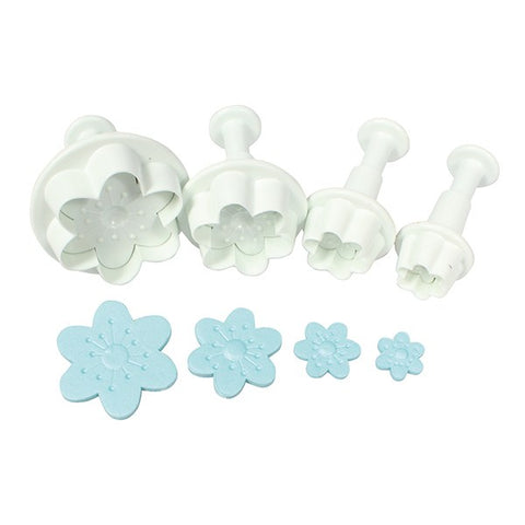 Cherry Blossom Plunger Cutter - 4 pieces - Cake Star
