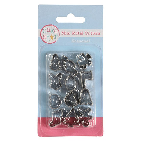Seasonal Mini Cutter Set - Cake Star - 12 piece