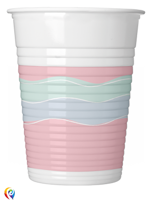 Elegant Party Plastic Cups - 200ml
