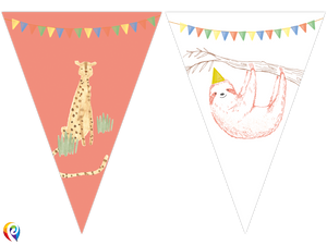 Safari Party Flag Banner - 2.3m Plastic Banner