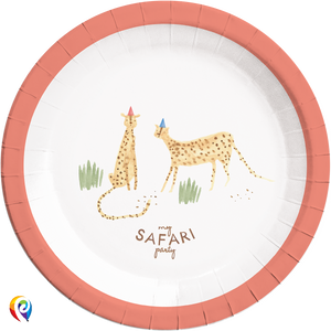 Safari Party Paper Round Plates - 23cm