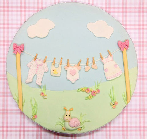 Katy Sue Mould - Baby Clothes Washing Line
