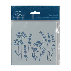House of Cake Meadow Flower Stencil - 140 x 150mm