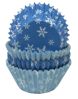 Snowflake Petit Four Cases in Rip-Top
