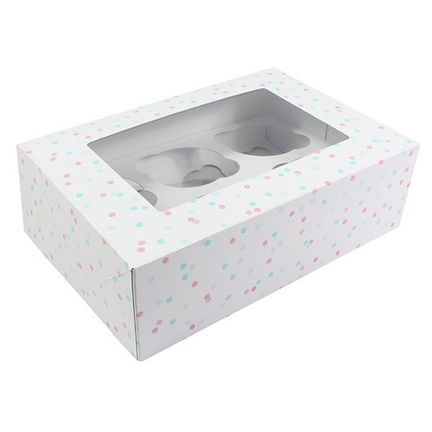 Multi Spot Box for 6 Cup cakes or 12 Fairy cakes