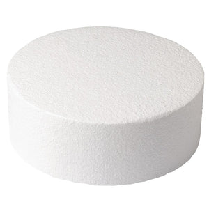 Round Straight Edged Polystyrene Cake Dummy - 8 x 4'' Deep