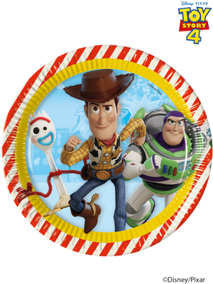Toy Story 4 Plates  - 8 PK
