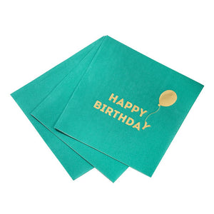 Bright Happy Birthday Napkins - 16 Pack