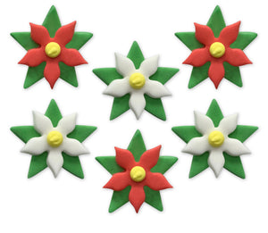 Christmas Poinsettia Sugarcraft Toppers