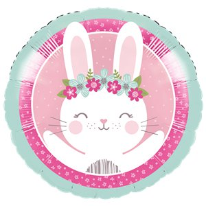 Birthday Bunny Metallic Foil Balloon - 18 inch