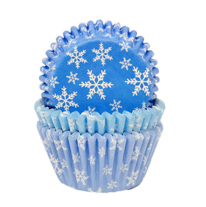 Snowflake Cupcake Cases in Rip-Top CDU