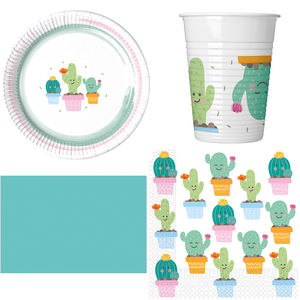 Cactus Party Pack For 8 Guests