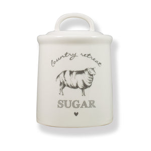 Country Retreat Sugar Canister