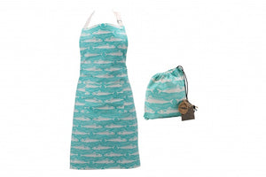 Teal Fish Apron & Bag