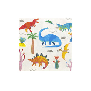 Talking Tables Dino Party Dinosaur 33Cm Napkin 20Pk, Multicolour