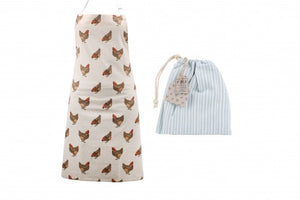 Holly House Chicken Cotton Apron