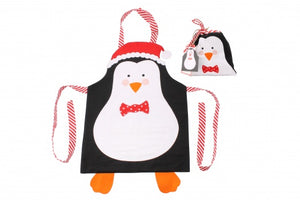 Penguin Kids Christmas Apron