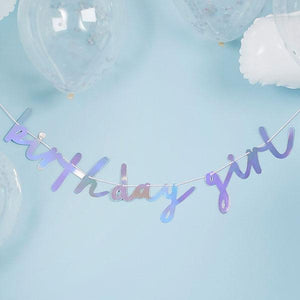 "Iridescent ""Birthday Girl"" Banner by Hootyballoo"