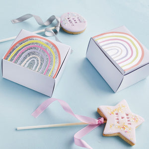 Rainbow Cake Favour Boxes by Hootyballoo