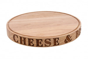 Cheese & Biscuits' Carved Board