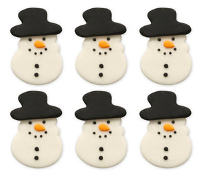 Festive Snowman Sugarcraft Toppers