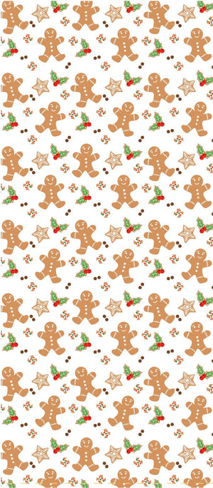 Gingerbread Pattern Cello Bags with Twist Tags