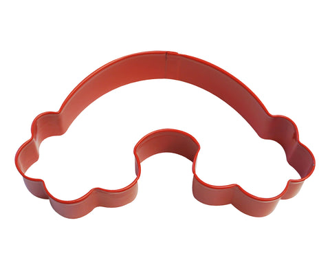 Rainbow Poly-Resin Coated Cookie Cutter Red