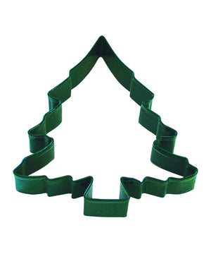 Large Christmas Tree Poly-Resin Coated Cookie Cutter Green