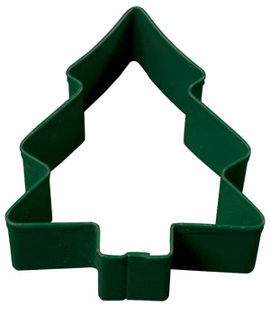 Snow Covered Christmas Tree Poly-Resin Coated Cookie Cutter Green