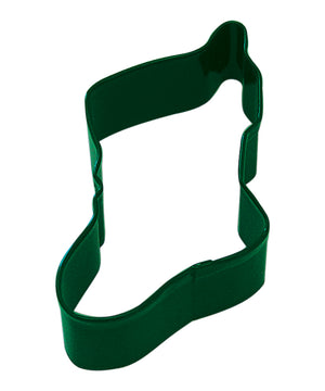 Christmas Stocking Poly-Resin Coated Cookie Cutter Green