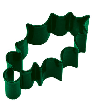 Holly Leaf Poly-Resin Coated Cookie Cutter Green