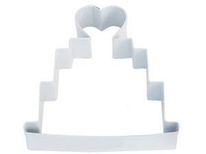 Wedding Cake Poly-Resin Coated Cookie Cutter White
