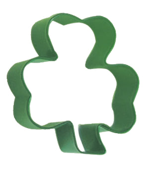 Shamrock Poly-Resin Coated Cookie Cutter Green