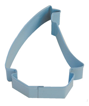 Sailboat Poly-Resin Coated Cookie Cutter Blue