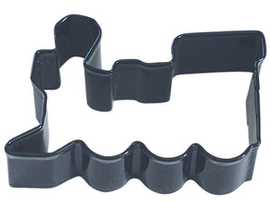 Train Poly-Resin Coated Cookie Cutter Black
