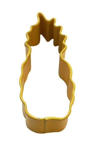 Mini Pineapple Poly-Resin Coated Cookie Cutter Yellow