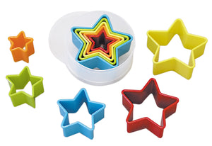 Star Plastic Cutters Set Multi-Coloured