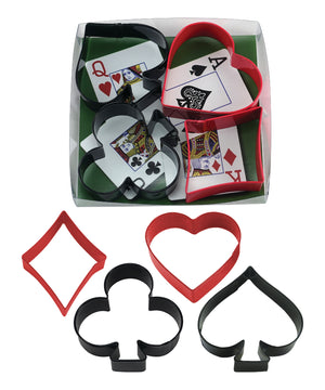 Card Night Poly-Resin Coated Cookie Cutter Set