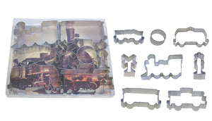 Train Tin-Plated Cookie Cutter Set