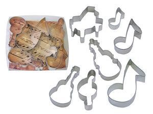 Musical Tin-Plated Cookie Cutter Set