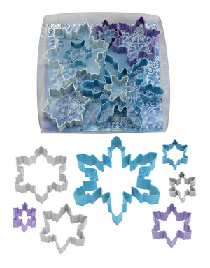 Snowflake Poly-Resin Coated Cookie Cutter Set