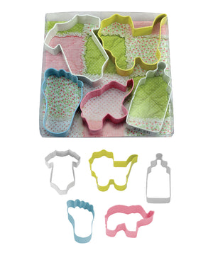 Baby Poly-Resin Coated Cookie Cutter Set