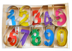Numbers Deluxe Tin-Plated Cookie Cutter Set