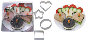 Shapes Sandwich Cutter Set Tin-Plated