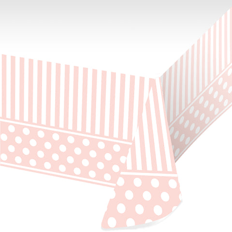 Pink Chic Plastic Tablecover