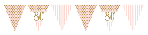 "Pink Chic ""80"" Paper Flag Bunting"