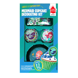 Cake Décor Mermaid Wafer Cupcake Decorating Kit
